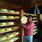 貯蔵庫内部 赤いコートが酪農組合長のセンノルブ、右やグリ(兄と共にツェルべチェG)